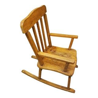 Antique Childs Cherry Walnut Rocking Chair For Sale