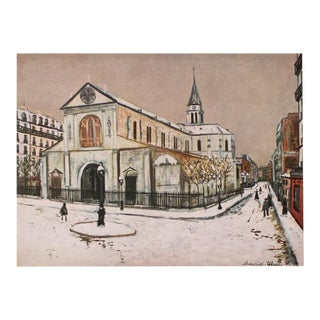 "1950s Maurice Utrillo, First Edition Period Lithograph Parisian ""Street Scene"" For Sale"