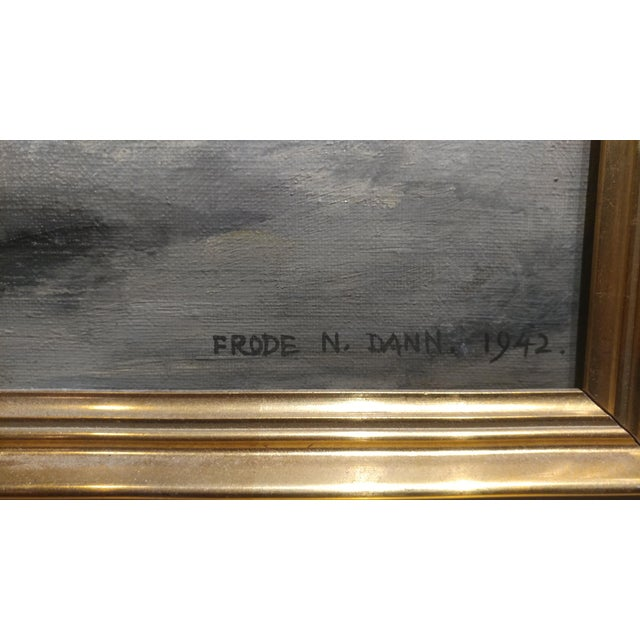 Frode Dann Still Life of Dahlias Oil Painting, 1942 For Sale In Los Angeles - Image 6 of 10