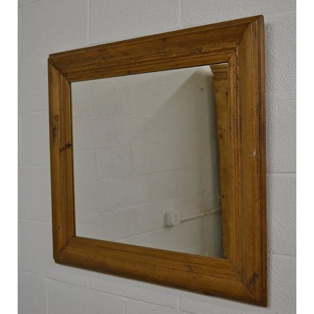 85b496cea0d6 A beautifully naturally aged and polished pine picture frame fitted with  new mirror glass. Frame