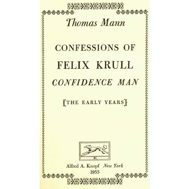 'Confessions of Felix Krull' First Ed. Book - Image 2 of 3