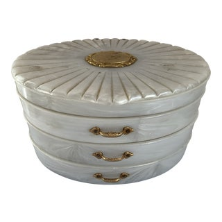 Bakelite Mother-Of-Pearl Jewelry Box For Sale