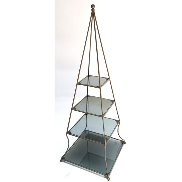 Mid-Century Modern 1960s Pyramid Étagères-A Pair For Sale - Image 3 of 7