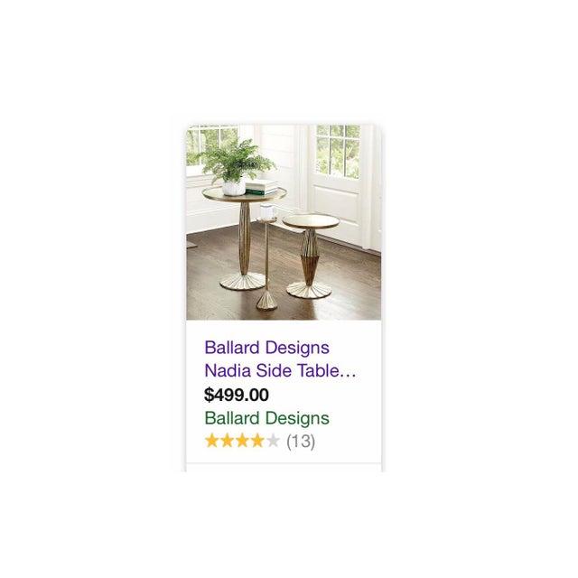 "Sale! Art Deco Ballard Designs ""Nadia"" Side Table For Sale - Image 12 of 12"