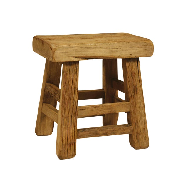 Reclaimed wood slab stool chairish Where can i buy reclaimed wood near me