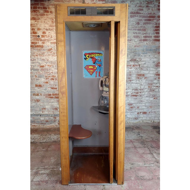 Americana 1950s Wooden Telephone Booth W/Original Working Pay Dial Phone For Sale - Image 3 of 12