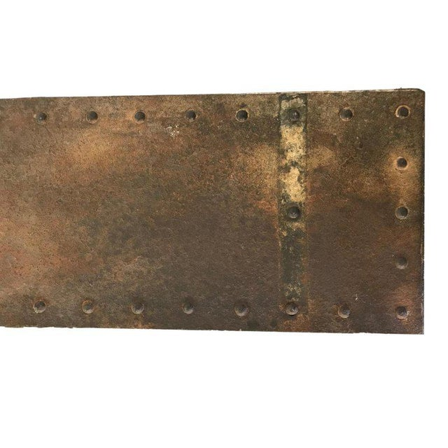 Metal 20th Century Industrial Riveted Console For Sale - Image 7 of 10