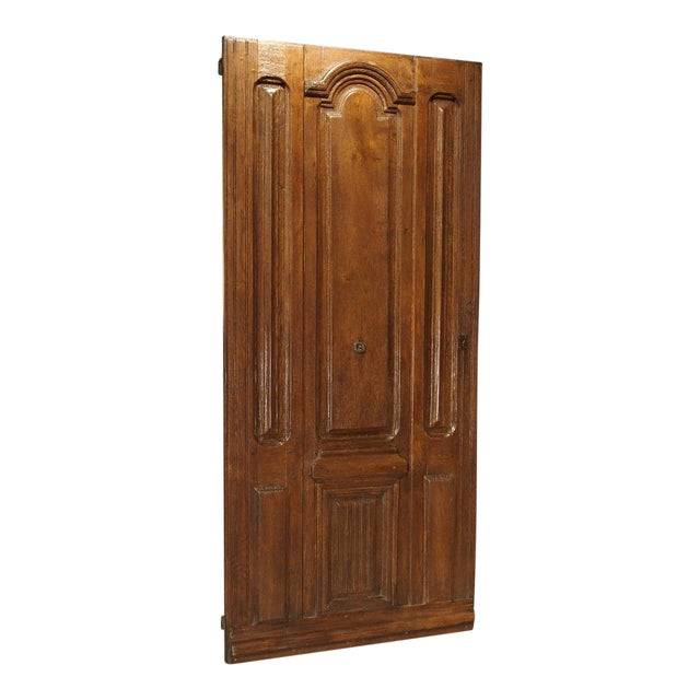 Early 1900s French Louis XIV Style Oak Entry Door For Sale