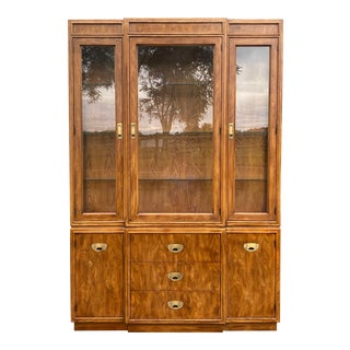 """Drexel Heritage """"Passage"""" Lighted China Cabinet For Sale"""