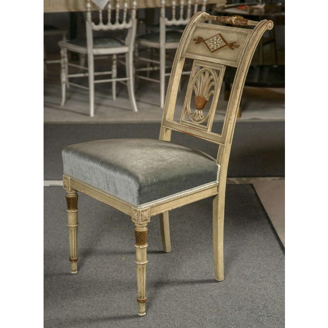 Hollywood Regency Side Chairs by Jansen - Set of 6 For Sale - Image 5 of 9