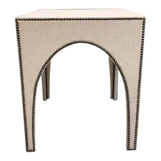 Century Furniture Bridgeton Fully Upholstered Lamp Table For Sale