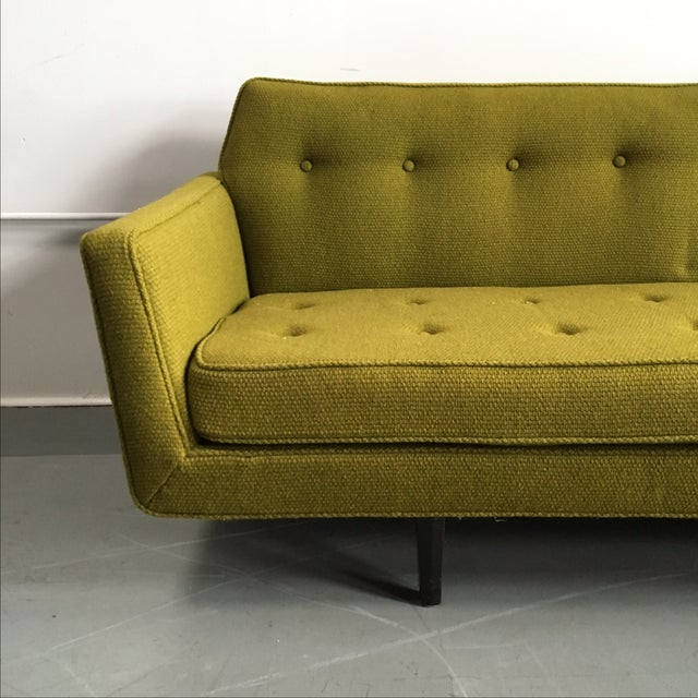 Edward Wormley for Dunbar Green Bracket Sofa - Image 6 of 7