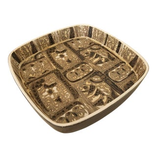 1960s Boho Chic Stoneware Serving Dish by Nils Thorsson for Royal Copenhagen For Sale