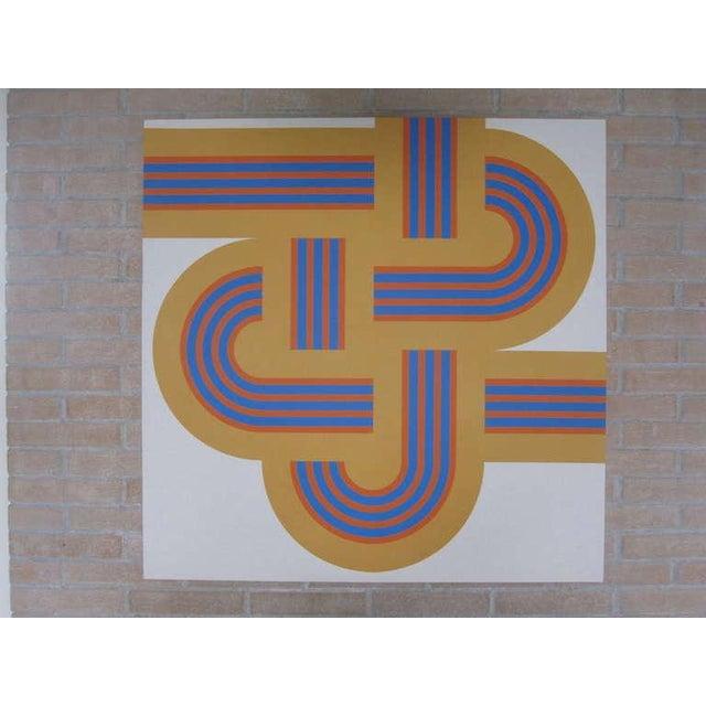 """1973 Serigraph """"Weave"""" X Large Art Reis Manwaring - Image 2 of 4"""