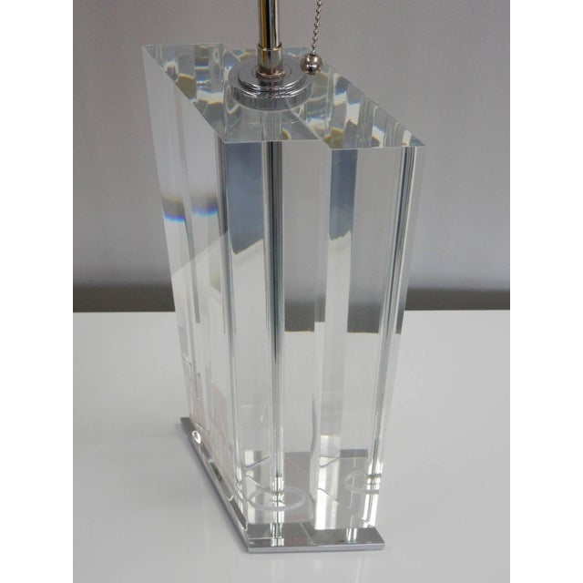 Pair of Massive Lucite Lamps, 1970s For Sale In Miami - Image 6 of 11