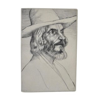 """""""Head of an Old Man"""" Etching by Scottish Artist William Strang (1859-1921) C.1897 For Sale"""