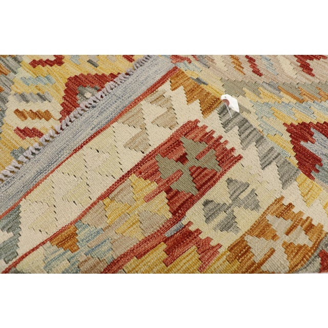 Mid 20th Century 20th Century Boho Chic Afghani Shirvan Kilim Rug With Tribal Style For Sale - Image 5 of 11