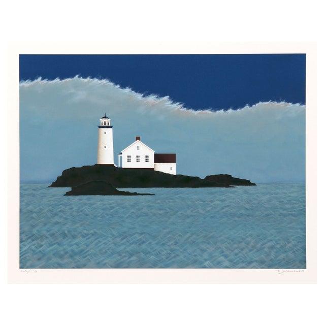 Theodore Jeremenko Island Lighthouse Silkscreen - Image 1 of 1