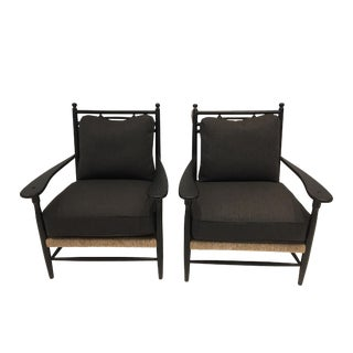 Studio 6F X Cottage Home Westhampton Rush Armchairs - a Pair For Sale