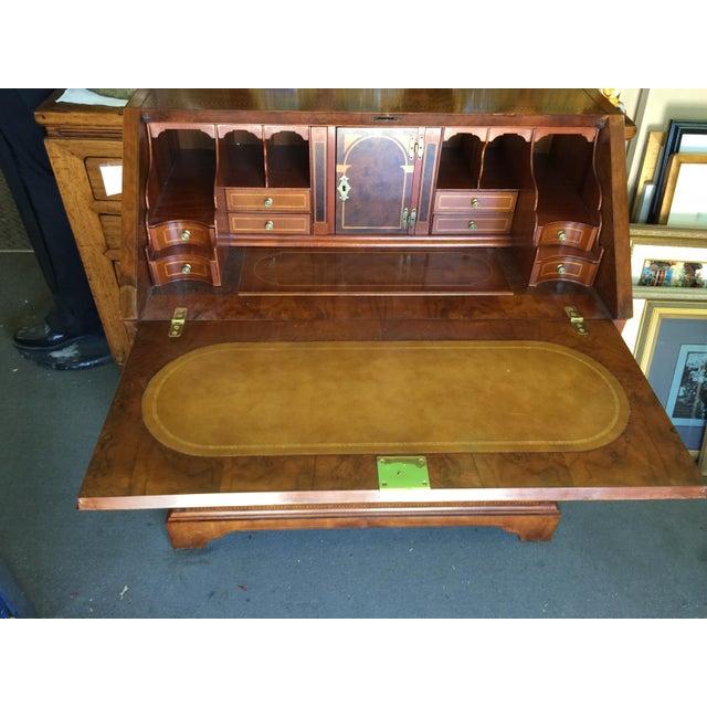 English Traditional Biltmore Estates Drexel Drop Front Desk For Sale - Image 3 of 13