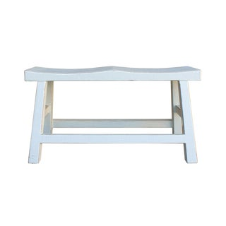 Off-White Double Seat Bench For Sale