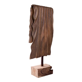 Phillips Collection Wooden Blanket Sculpture For Sale