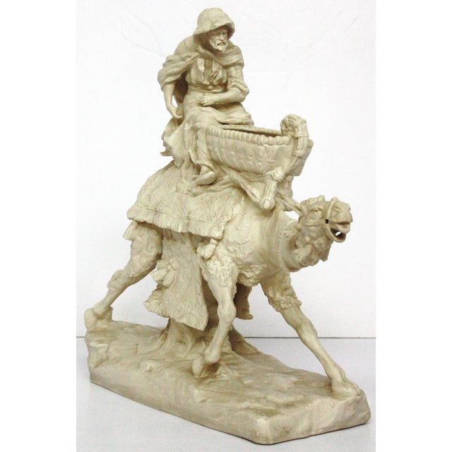 Parian Ware Arabian Camel with Bedouin Rider by Imperial-Amphora / Turn, Austria - Image 3 of 11