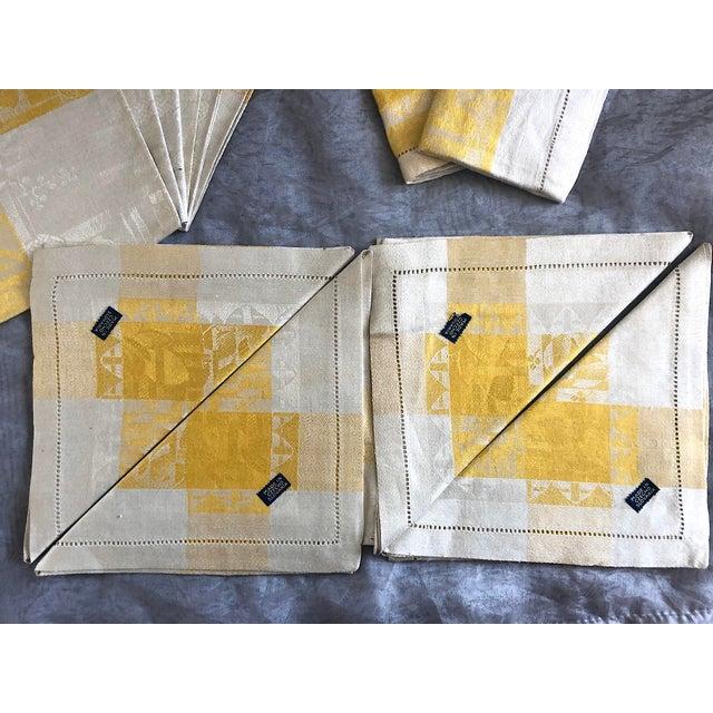 Vintage Damask Linen Napkins - Set of 12 For Sale - Image 4 of 13