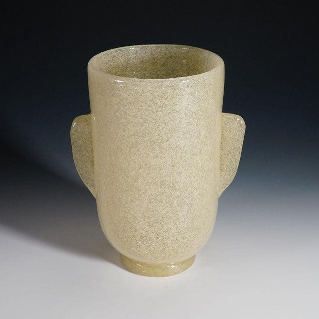1930s Carlo Scarpa 'A Bollicine' Glass Vase for Venini Ca. 1932 For Sale - Image 5 of 10