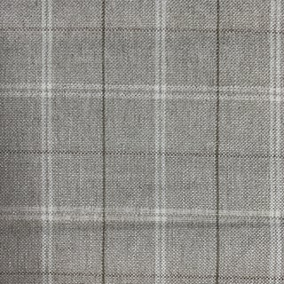 Grey Linen Plaid Fabric For Sale