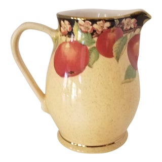 Vintage Yapacunchi Ceramic Hand Painted Beverage Pitcher From Ecuador For Sale