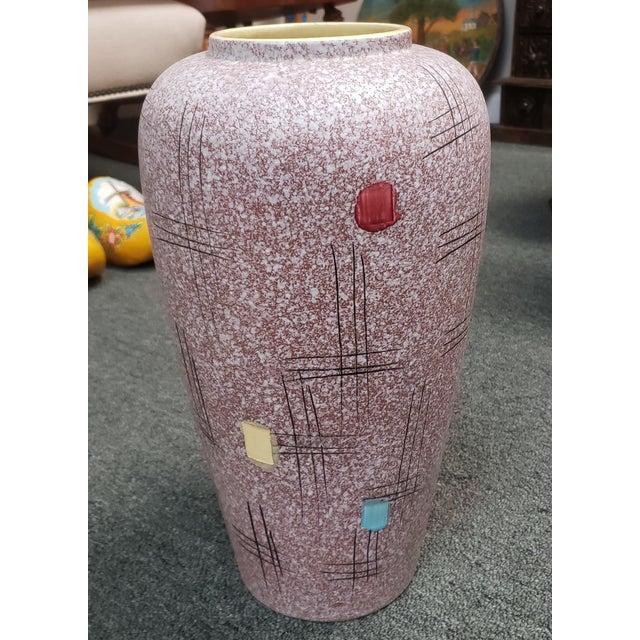 Ceramic Mid Century 1960's Italian Bittosi Style Pottery Lava Glaze Baluster Vase For Sale - Image 7 of 7