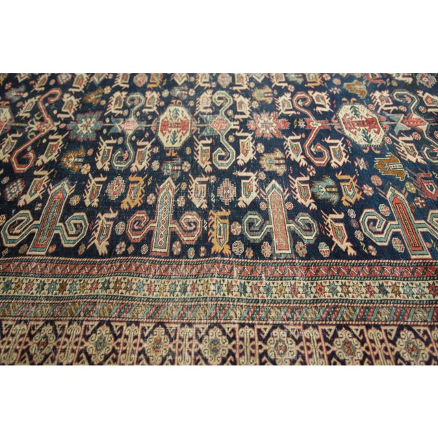 """Textile Antique Shirvan Rug - 4'3"""" x 6'7"""" For Sale - Image 7 of 11"""