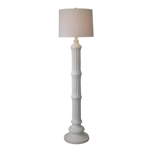 Hollywood Regency Column Plaster Floor Lamp . For Sale