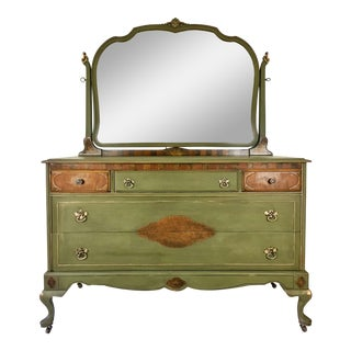 20th Century Cottage Chest of Drawers With Mirror For Sale