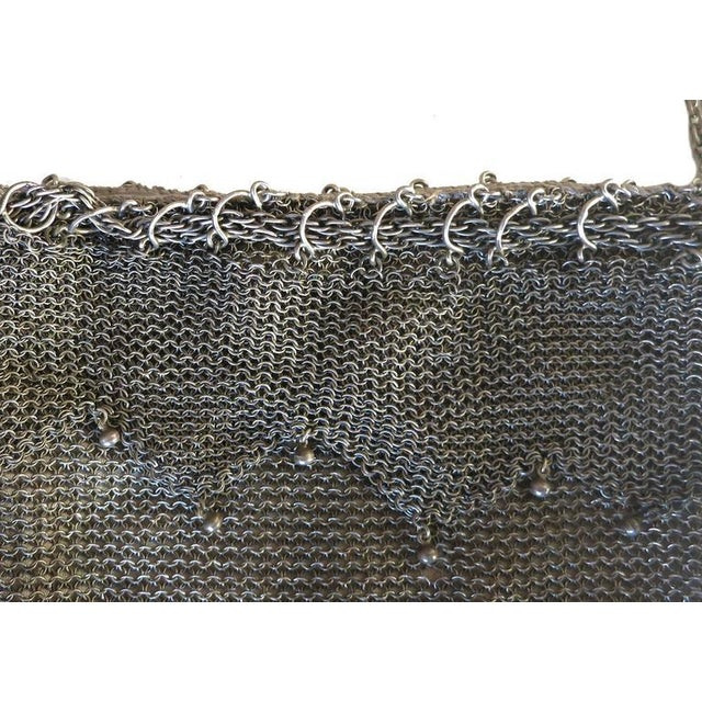 .925 Sterling Silver Mesh Evening Bag Purse - Image 6 of 7