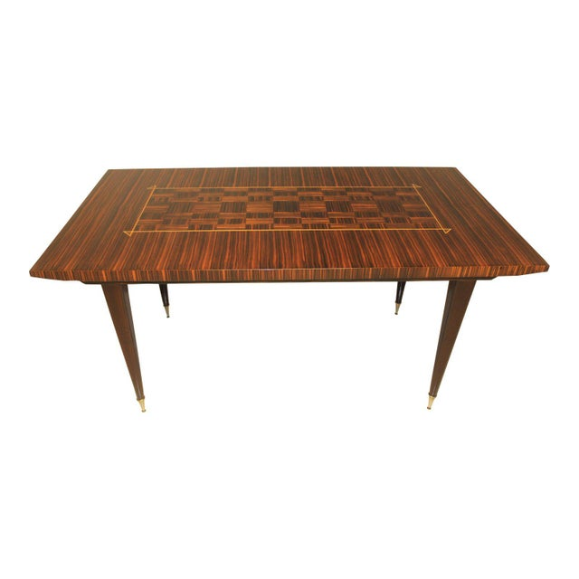 1940s Art Deco Exotic Macassar Ebony Writing Desk/Dining Table For Sale - Image 13 of 13