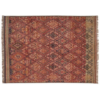 Red Cb2 Indira Rug - 9′ × 12′ For Sale