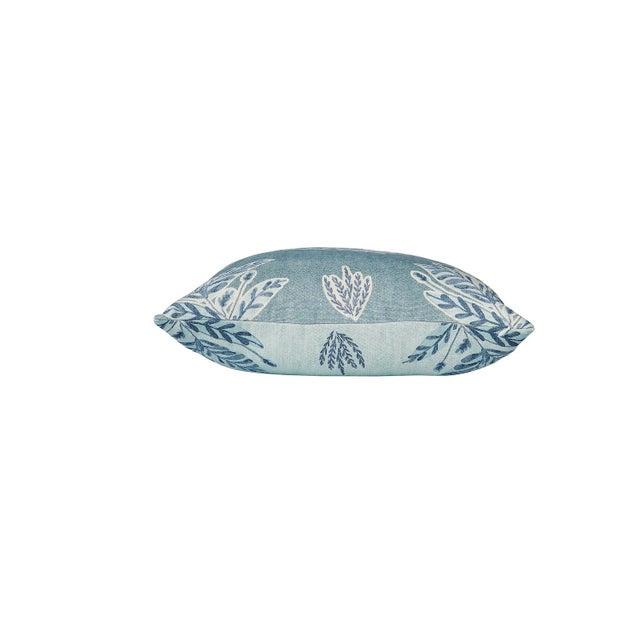 Ferrick Mason Custom Emily Blue Knife Edge Pillows - a Pair For Sale - Image 4 of 6
