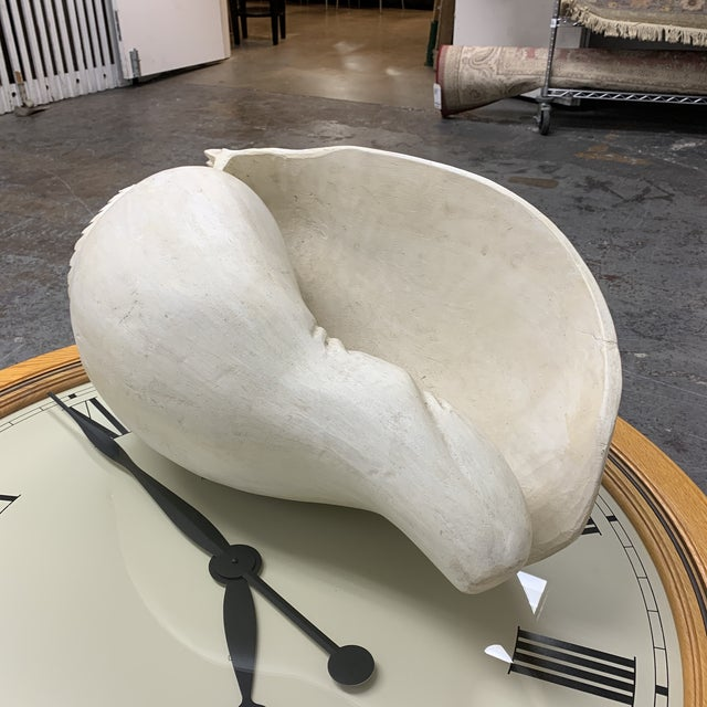 Mid 20th Century Mid-20th Century Carved Wood White Conch Shell For Sale - Image 5 of 8