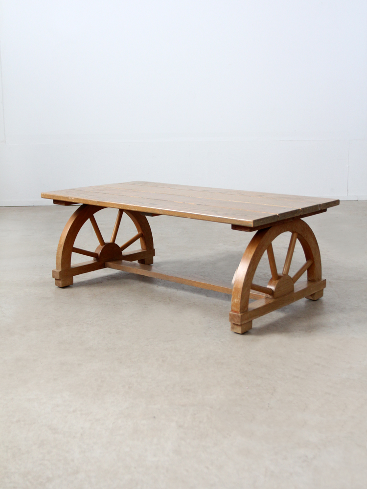 Superieur Vintage Wagon Wheel Coffee Table   Image 2 Of 7