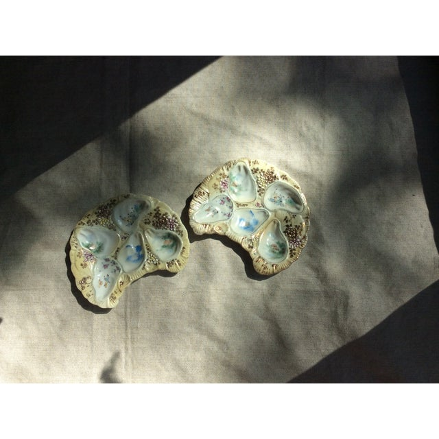 Antique French Porcelain Oyster Plates - a Pair For Sale - Image 10 of 12