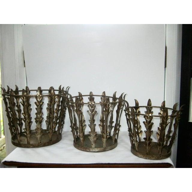 Vintage Italian Nest of 3 Acanthus Leaf Baskets - Set of 3 - Image 3 of 8