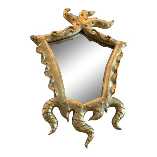 Italian Gold Mirror With Tentacle Frame For Sale