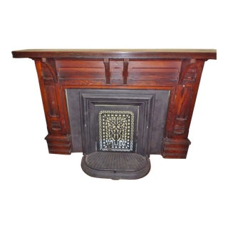 18th Cenury Early American Pine Antique Fireplace Mantel For Sale