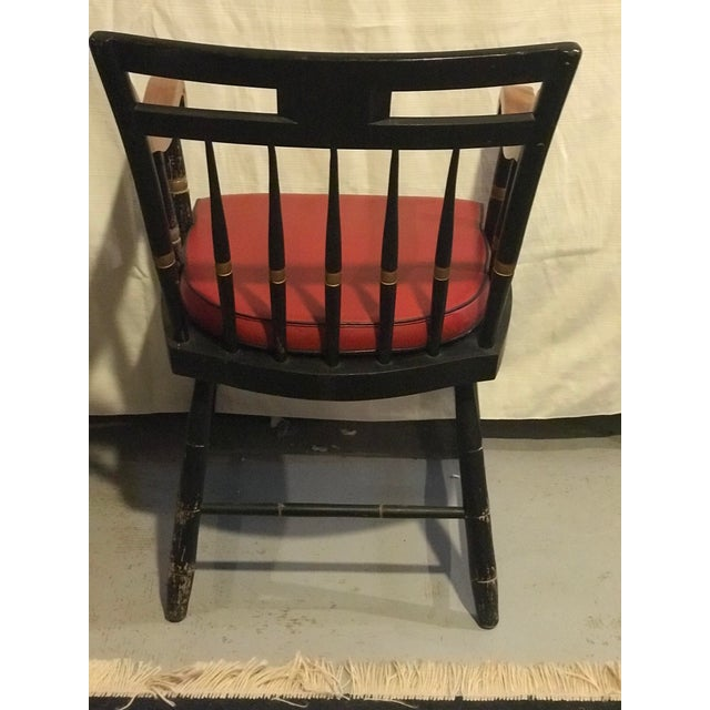 Early 20th Century Early 20th Century Nichols & Stone Windsor Chairs- A Pair For Sale - Image 5 of 9