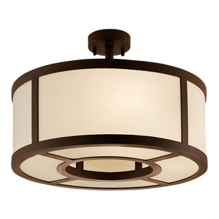 "Ailsa Bronze Pendant Light (17.7"") For Sale"