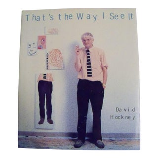 That's the Way I See It by David Hockney 1993 1st Printing Hardcover For Sale