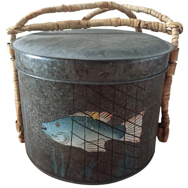 Metal Fishing Creel - Image 1 of 7
