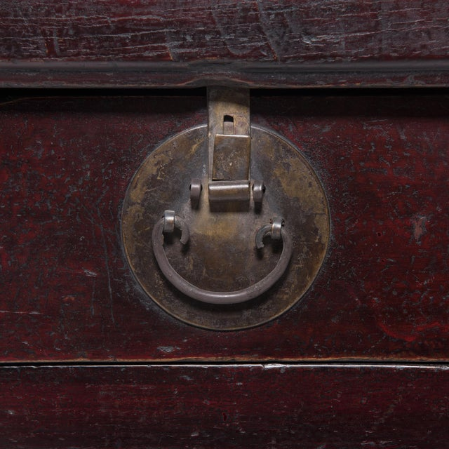 3 Drawer 2 Door Chinese Coffer For Sale - Image 9 of 11